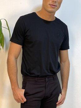 Camiseta Básica Preta Algodão Masculina