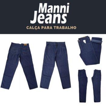 Calça Jeans Masculina Tradicional para Trabalho