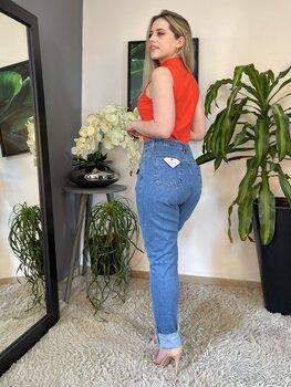 Calça Jeans Feminina Carrot
