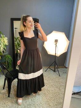 Vestido Midi Crepe