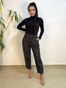 Calça Jeans Feminina Baggy