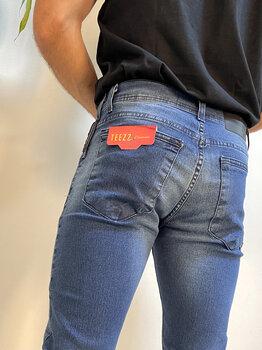 Calça Jeans Masculina Cropped Slim