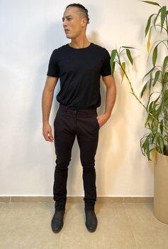 Calça Casual Preta Sarja Masculina