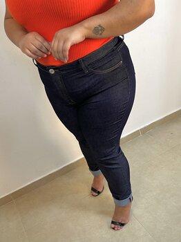 Calça Jeans Azul Escuro Skinny Feminina